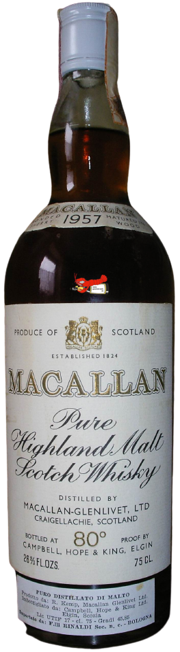 18 Years Old Highland Malt Scotch Whisky - Jahrgang 1957, Macallan